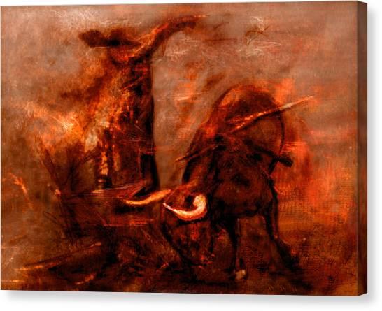 Bullfight Canvas Print