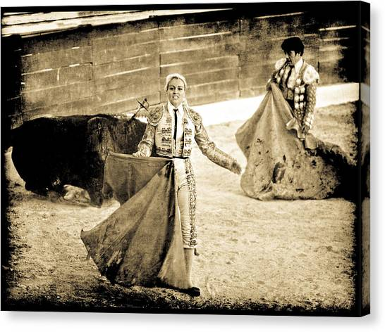 Bullfighting Blond Canvas Print