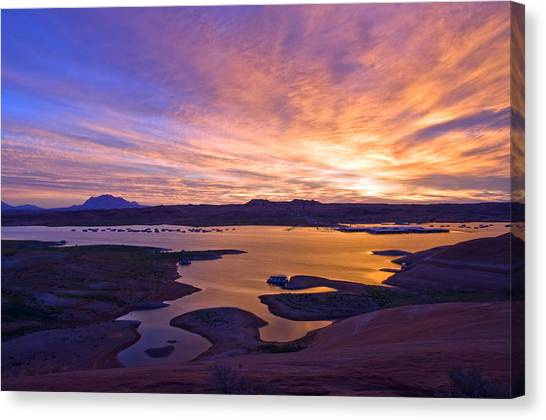 Bullfrog Marina Sunrise  Canvas Print