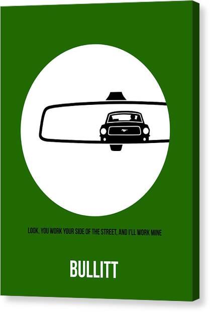 Racing Canvas Print - Bullitt Poster 2 by Naxart Studio