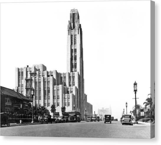 Designing Canvas Print - Bullock's On Wilshire Blvd by Underwood Archives