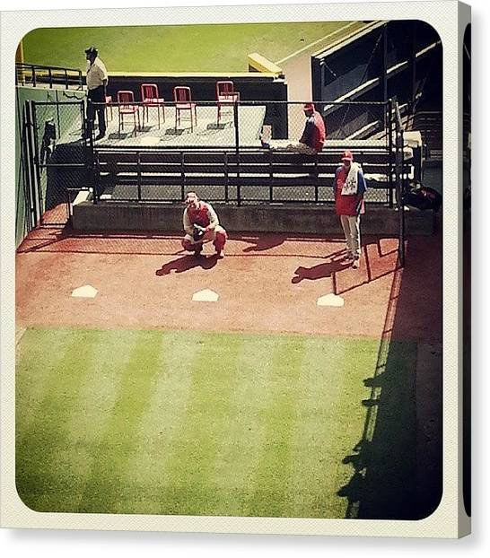 Atlanta Braves Canvas Print - #bullpen #phillies #turnerfield by Alyson Schwartz