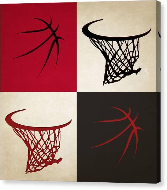 Chicago Bulls Canvas Print - Bulls Ball And Hoop by Joe Hamilton