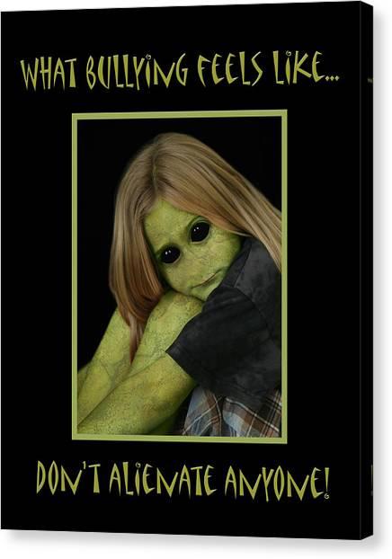 Bully Canvas Print by Karen Walzer