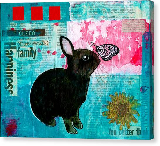 Bun And Butterfly Canvas Print