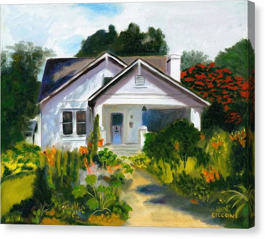Bungalow In Sunlight Canvas Print