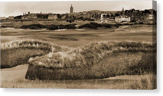 Bunker At St. Andrews Old Course Scotland Canvas Print
