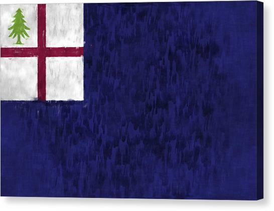 New England Revolution Canvas Print - Bunker Hill Flag by World Art Prints And Designs