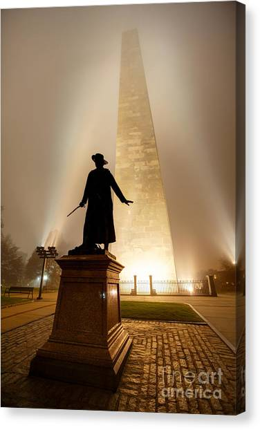 Bunker Hill Monument  Canvas Print by Denis Tangney Jr
