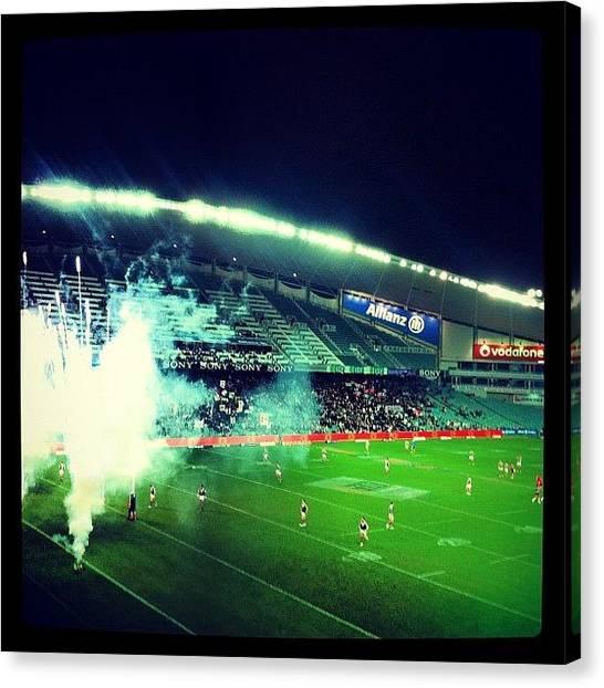 Roosters Canvas Print - Bunnies V Roosters! #rabbitohs by Emily Hames