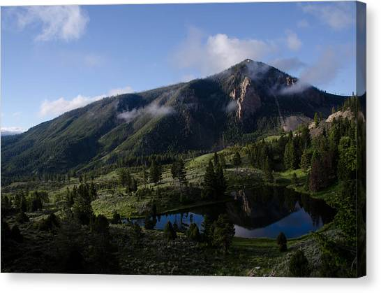 Bunsen Peak Reflection Canvas Print