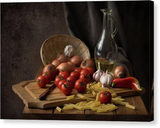 Spaghetti Canvas Print - Buon Appetito... by Margareth Perfoncio