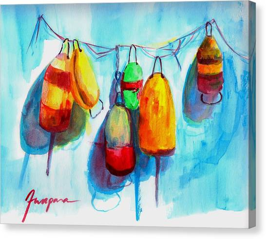 Colorful Buoys Canvas Print
