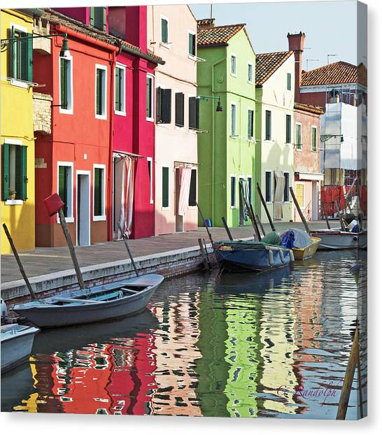 Burano Reflections Canvas Print