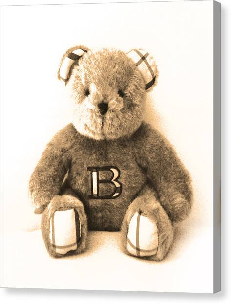 Burberry Bear Canvas Print