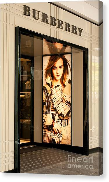 Burberry Emma Watson 01 Canvas Print by Rick Piper Photography