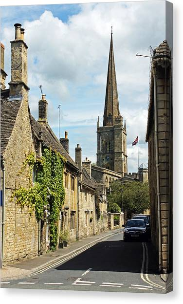 Burford Village Street Canvas Print