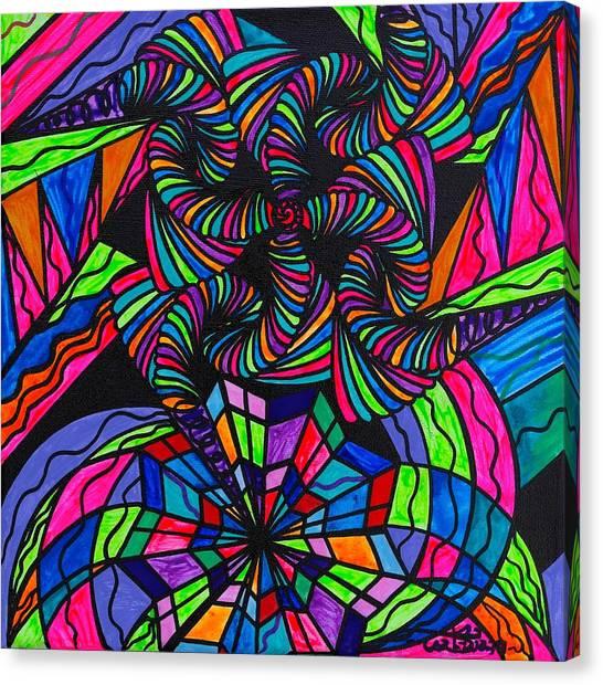 Sacred Geometry Canvas Print - Burgeon by Teal Eye  Print Store