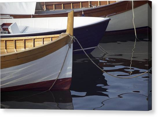 Burgundy Boat Canvas Print