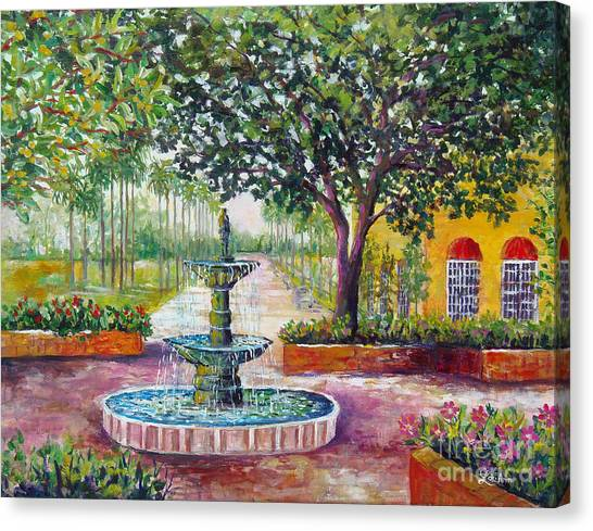 Burgundy Square Canvas Print