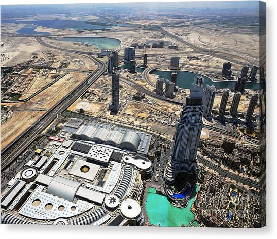 Burj Khalifa Observation Deck View - 01 Canvas Print by Graham Taylor