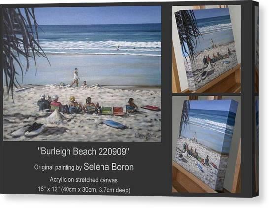 Burleigh Beach 220909 Canvas Print