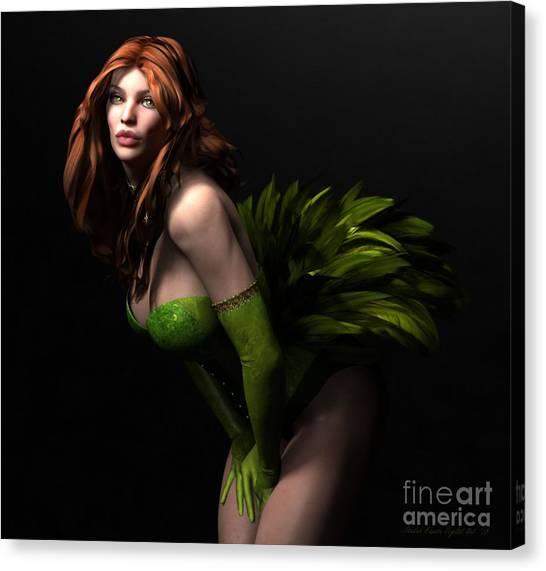 Burlesque Canvas Print by Sandra Bauser Digital Art
