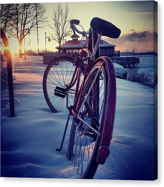 Vermont Canvas Print - #burlington #bike #vermont #sunset #sun by Call Me Kay