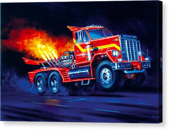 Accelerate Canvas Print - Burn Out by Garry Walton