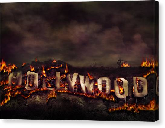 Burn This City Canvas Print