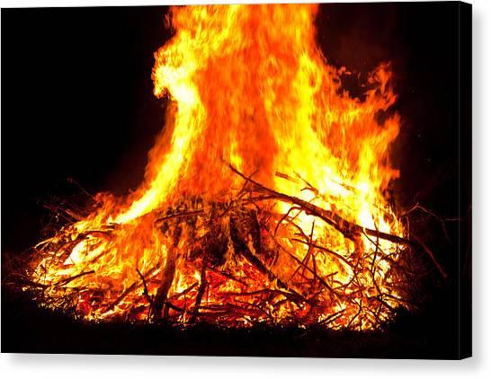 Burning Branches Canvas Print by Claus Siebenhaar