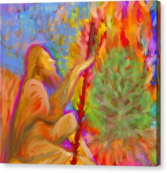 Burning Bush Of Yhwh Canvas Print