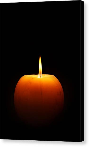 Flames Canvas Print - Burning Candle by Johan Swanepoel