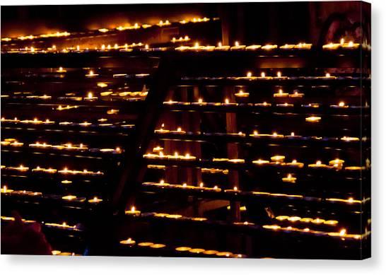 Burning Candles Canvas Print by Viacheslav Savitskiy