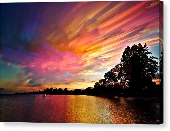 Ontario Canvas Print - Burning Cotton Candy Flying Through The Sky by Matt Molloy
