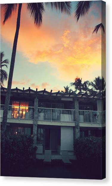 Beach Resort Vacation Canvas Print - Burning Inside And Out by Laurie Search