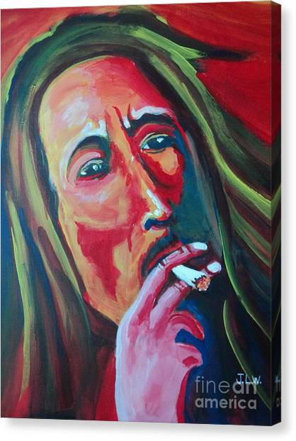 Burning Marley Canvas Print