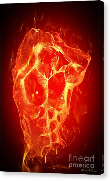 Fire Canvas Print - Burning Up  by Mark Ashkenazi