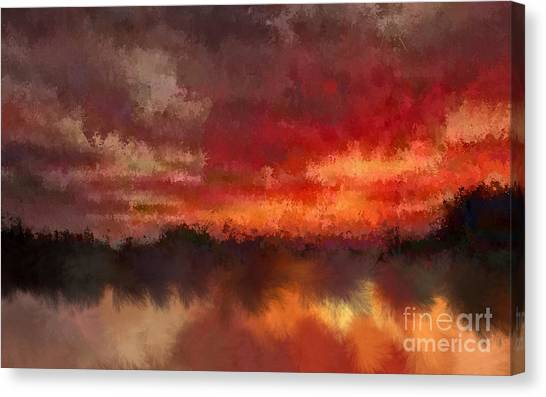 Burnt Sunset Canvas Print