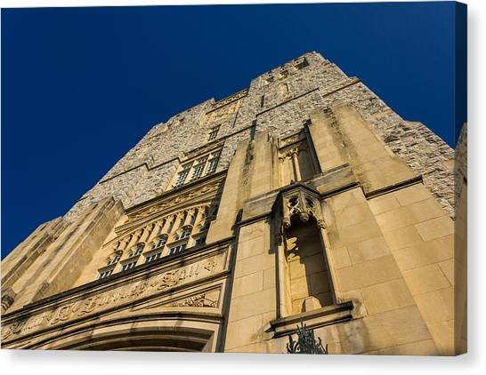 Virginia Polytechnic Institute And State University Virginia Tech Canvas Print - Burress Hall At Vt by Bryan Pollard