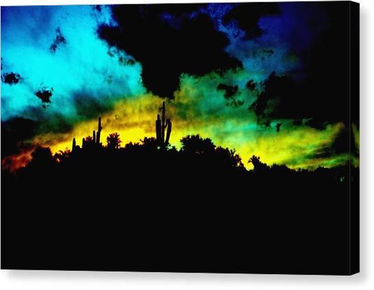 Burro Sunset Abstract Canvas Print by Alfredo Martinez