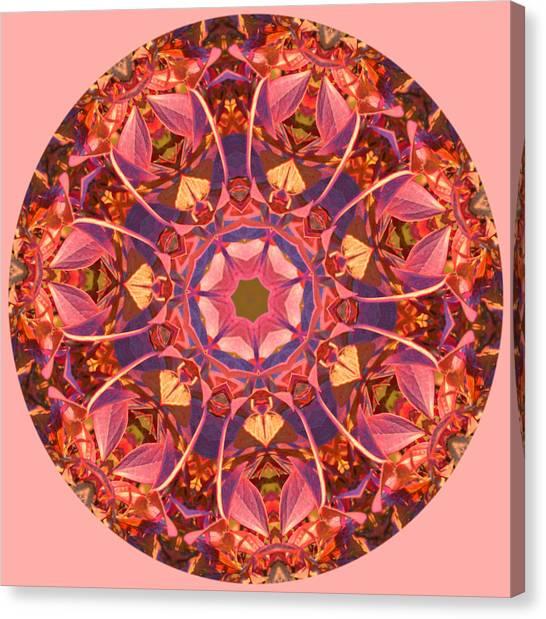 Burst Of Fall Mandala Canvas Print
