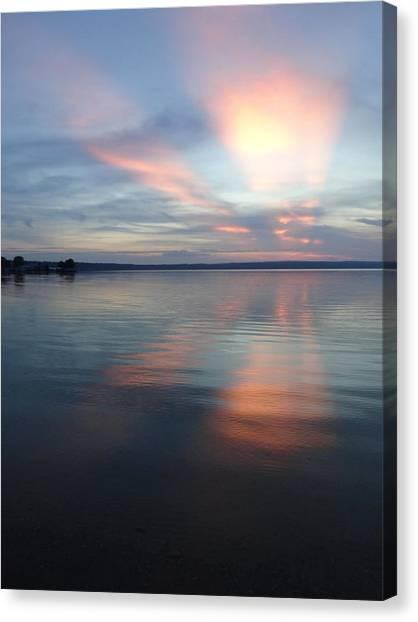 Burt Lake Sunset Canvas Print
