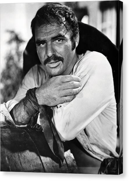 Burt Reynolds Canvas Print - Burt Reynolds In 100 Rifles  by Silver Screen