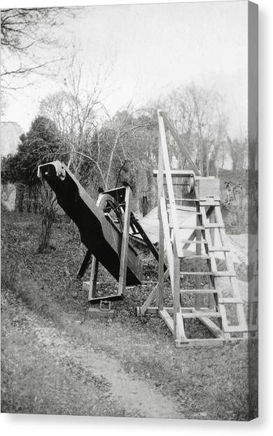 Burton's Telescope Canvas Print by Royal Astronomical Society/science Photo Library