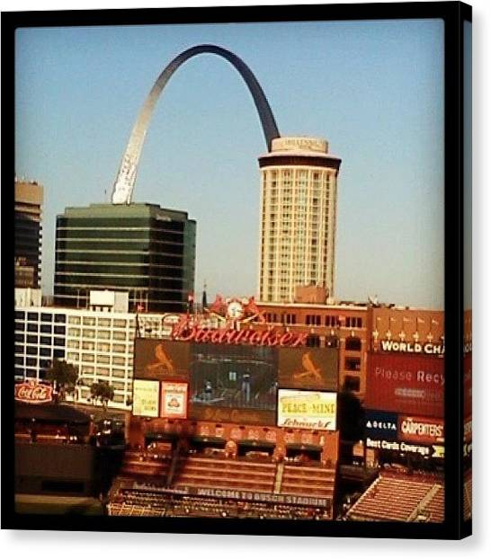 St. Louis Cardinals Canvas Print - Busch Sadium by Micah Watson