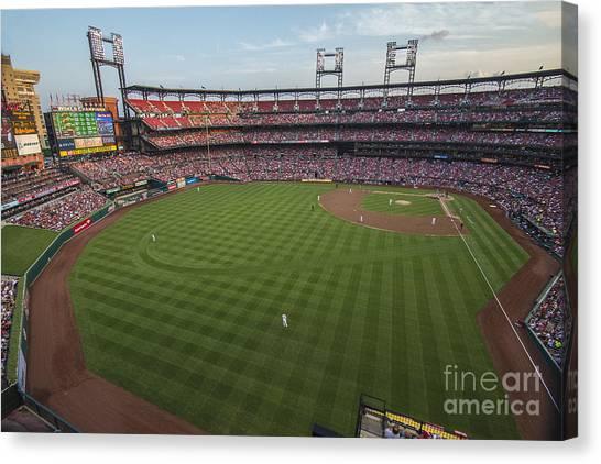 St. Louis Blues Canvas Print - Busch Stadium Cardinals 1 by David Haskett II