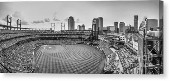 St. Louis Blues Canvas Print - Busch Stadium Cardinals Pano by David Haskett II
