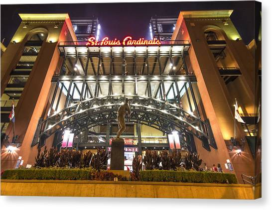 Mississippi River Canvas Print - Busch Stadium St. Louis Cardinalsstan Musial by David Haskett