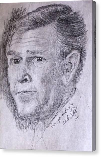 George W. Bush Canvas Print - Bush by Wade Clark